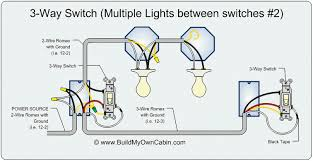 wiring diagram for a three way light switch   wiring schematics     way switch diagram multiple lights between switches