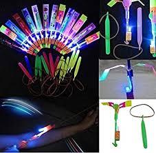 48pc Amazing <b>Led Light</b> Arrow Rocket Helicopter <b>Flying</b> Toy Party ...