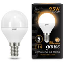 «<b>Gauss LED</b> G45 9.5W 3000K E14 <b>105101110</b>» — <b>Лампочки</b> ...