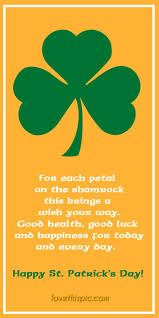 Shamrock happiness blessing luck pinterest health pinterest quotes ... via Relatably.com