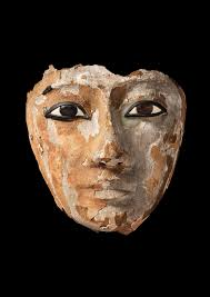 point furniture egypt x: wooden face with inlaid eyes originally part of a coffin egyptian nd dynasty