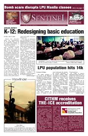The NORSUnian 2015 2016 1st Issue by The NORSUnian issuu The LPU Independent Sentinel Vol. XXX No. 1 June October 2012