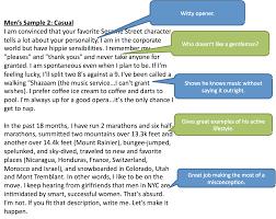 resume  examples of profile writing  corezume coexample of