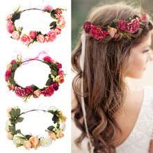 Popular Flower Wreath <b>Hair Accessories Women</b>-Buy Cheap Flower ...