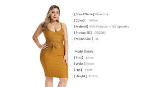 <b>Maketina Summer 2019 Plus</b> Size Bandage Dress Mini Elegant ...
