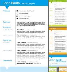 creative resume template design vector material    vector other    creative resume template design vector material