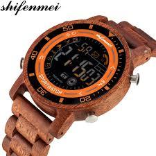 Digital Watch <b>Men Shifenmei</b> Smart Watches <b>Wooden Men's</b> Sport ...