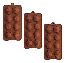 SET OF 3 X <b>Sea Shells</b> star fish Ice Cube Chocolate Soap Tray <b>Mold</b>