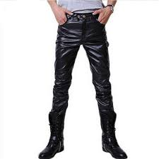 <b>Spring and autumn new</b> Korean fashion personality leather pants ...