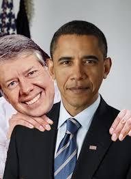 nose at President Obama,
