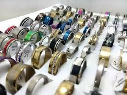 NEW <b>100pcs</b> MIX <b>LOT</b> Stainless Steel rings <b>Wholesale Men Women</b> ...