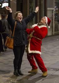 A man dressed as Santa and a friend enjoyed their Friday night in Glasgow  Scotland