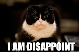 Disappointed Kitty memes | quickmeme via Relatably.com