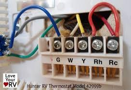 digital thermostat wiring annavernon hunter 42999b digital rv thermostat upgrading the oem