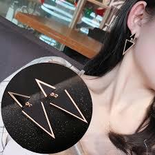 2019 New Fashion Women Jewelry <b>Irregular Triangle Stud Earrings</b> ...