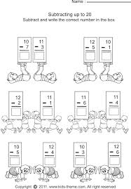 Subtraction Worksheetssubtract numbers and write answer