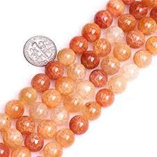12mm Orange Dragon Vein Crackle Agate Beads ... - Amazon.com