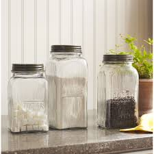 Green Kitchen Canister Set Glass Canisters For Kitchen Best Kitchen Canisters Ideas Inspired