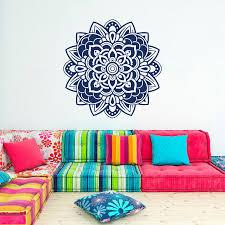 Wall Decal <b>Mandala Flowers Wall</b> Art Decor India <b>Bohemian</b> ...