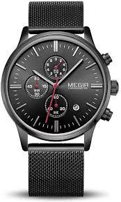 <b>Men's</b> Watches <b>Fashion Sport</b> Quartz Analog Black Mesh Stainless ...