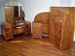 waterfall style furniture waterfall bedroom set 1930 40 antique art deco bedroom furniture