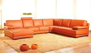 orange leather sofa leather match modern sectional sofa by vig furniture 1 burnt orange furniture
