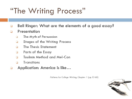 "the writing process""  bell ringer  what are the elements of a    ""the writing process""  bell ringer  what are the elements of a good"