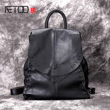 luodun brand new genuine leather female bag the first layer