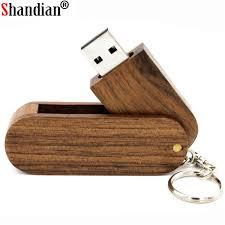 SHANDIAN (over 10 PCS free LOGO) <b>Wooden rotatable usb flash</b> ...