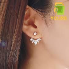 <b>1 Pair Fashion Women</b> Earing Big Crystal Rose Gold Silver Ear ...
