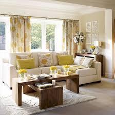 yellow gray living room view full