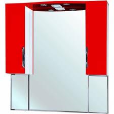 <b>Зеркало</b>-<b>шкаф Bellezza</b> Лагуна 105 с подсветкой красное ...