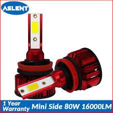 <b>Aslent Mini</b> Size 80W 16000lm 6500K Car Headlight <b>H7</b> H4 <b>LED</b> H8 ...