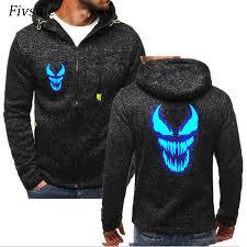 2019 <b>Fivsole 2019 Spring Venom</b> Glowing Printed Thin Hoodies ...