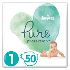 <b>Подгузники Pampers Pure</b> Protection Newborn (2-5кг), 50шт ...