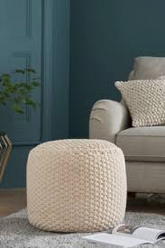 Footstools & Pouffes | Knitted Pouffes | Next Official Site