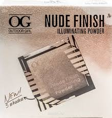 Хайлайтер Outdoor Girl Nude Finish Illuminate Powder, №04 сочно ...