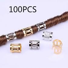 1.5*15mm Hair 10pcs <b>20pcs</b> Golden/ Silver Braid Dreadlock Beads ...