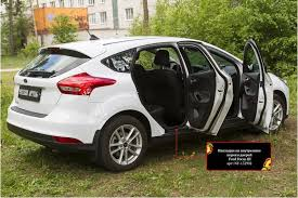 <b>Накладки на внутренние</b> пороги дверей Ford Focus 3 2014- - NF ...