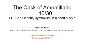 the cask of amontillado theme the cask of amontillado lo can i identify symbolism in a the cask of amontillado lo can i identify symbolism in a