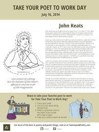 take your poet to work john keats john keats take your poet to work