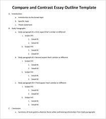 essay outline template –  free free word pdf format download  free compare and contrast essay outline template