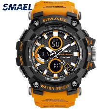 Sport Watch Dual Time <b>Men Watches 50m</b> WaterproofMale Clock ...
