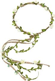 Flower Crown Floral Wreath Headband Floral Garland ... - Amazon.com