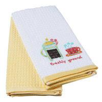 «<b>Комплект полотенец кухонных TAC</b> махр. с вышивкой Кофе ...