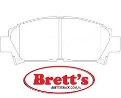 New GT DB1328 <b>4 Pcs Front</b> Disc Brake Pads Set For Toyota Motors ...