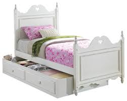 white youth kid four poster bed with drawer storage trundle twin farmhouse kids amazing white kids poster bedroom furniture