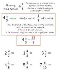 Number worksheets, Fractions and Worksheets on PinterestImproper Fractions and Renaming Mixed Numbers Worksheets