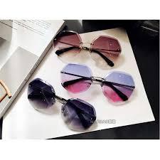 Beach Women Trend UV Protection Metal eyeglass frame Oversized ...