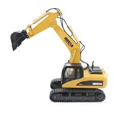 <b>HUINA 1550</b> 1:14 2.4GHz 15CH <b>RC</b> Alloy Excavator - RTR | Gearbest